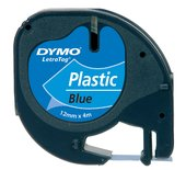 LETTERTAPE DYMO 91205 LETRATAG 12MMX4M PLAST BL/ZW